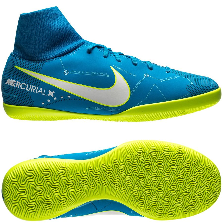 hot sale online e65a2 1d835 Nike MercurialX Victory VI DF IC NJR Written in the Stars - Blue  Orbit/White/Armory Navy Kids | www.unisportstore.com