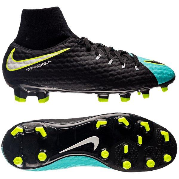 size 40 a24a6 cab51 Nike Hypervenom Phelon 3 DF FG WMNS EC17 Pack - Turquoise Noir Jaune Fluo