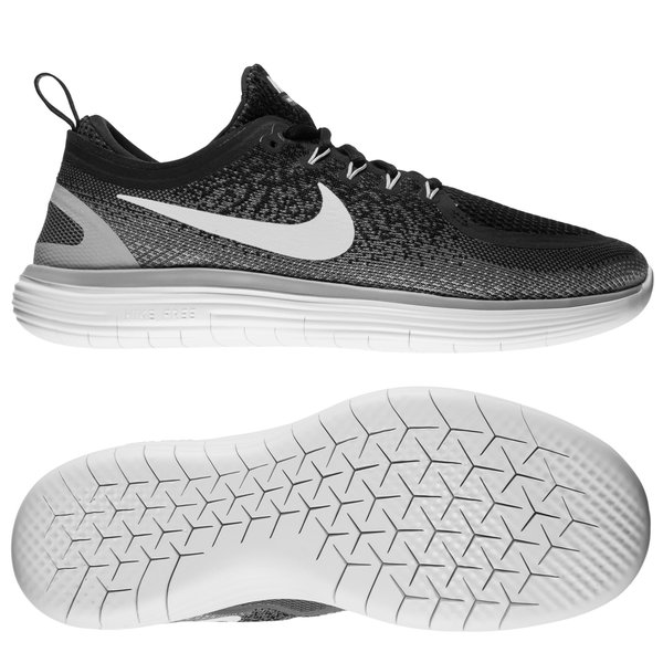Nike Free RN Distance 2 ZwartWitGrijs