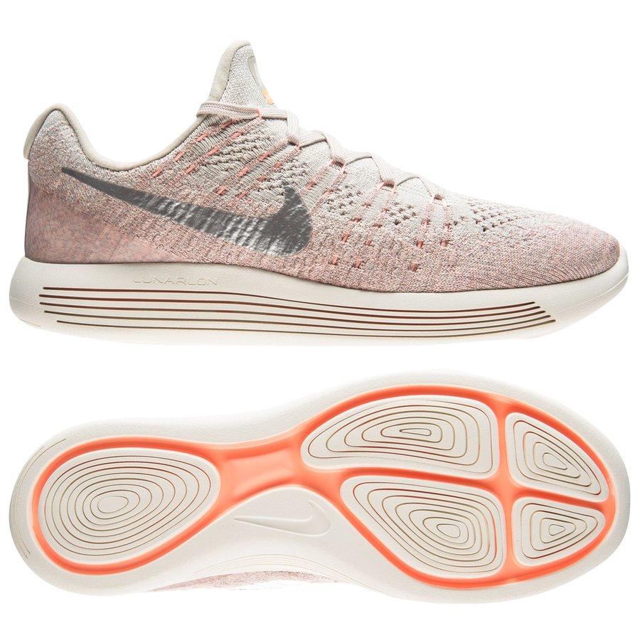 designer fashion c54f3 defce nike running shoe lunarepic low flyknit 2 - pale grey metallic  silver sunset glow ...