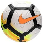nike fodbold strike - hvid/sort/orange - fodbolde