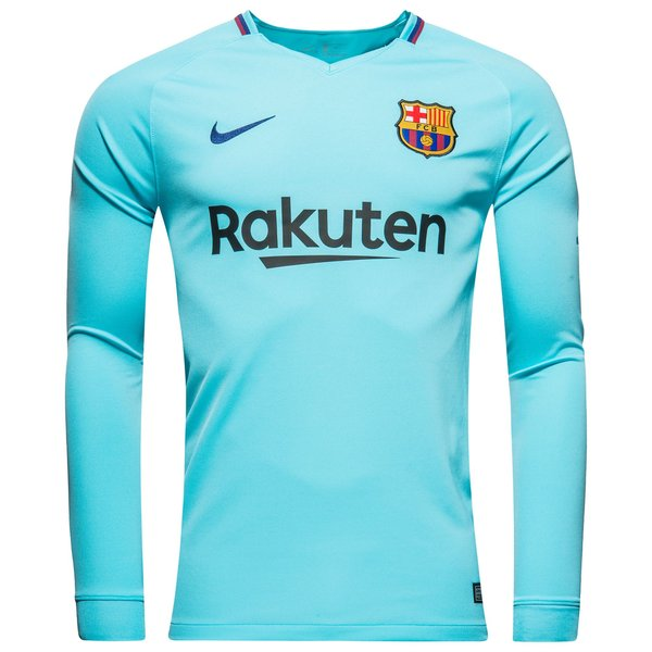 Fc barcelone maillot ext rieur 2017 18 manches longues Maillot barcelone exterieur 2017