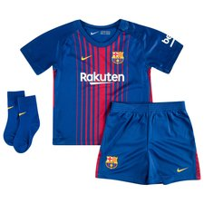 barcelona home shirt 2017/18 baby-kit kids - football shirts