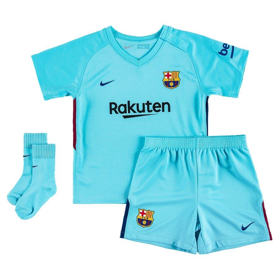 Fc barcelone maillot ext rieur 2017 18 mini kit enfant Maillot barcelone exterieur 2017