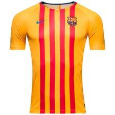 barcelona trænings t-shirt breathe squad - guld/blå børn - træningstrøjer