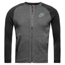 nike bomber jakke nsw tech fleece - grå/sort børn - jakker