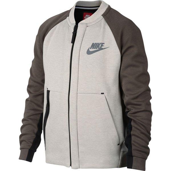 7c79d7cdfc1d Nike Bomber Jacket NSW Tech Fleece - Carbon Heather Brown Kids