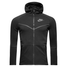 nike hoodie fz nsw tech fleece - black/anthracite kids - hoodies