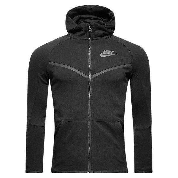nike kapuzenjacke nsw tech fleece - schwarz/grau kinder - hoodies