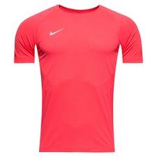 nike trænings t-shirt breathe squad rising fast - pink/hvid børn - træningstrøjer
