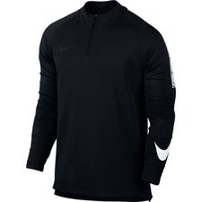 nike training shirt dry squad drill - black/white kids - training tops