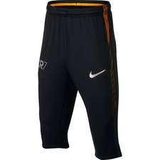 nike training trousers squad 3/4 cr7 - black/laser orange/metallic silver kids - training pants