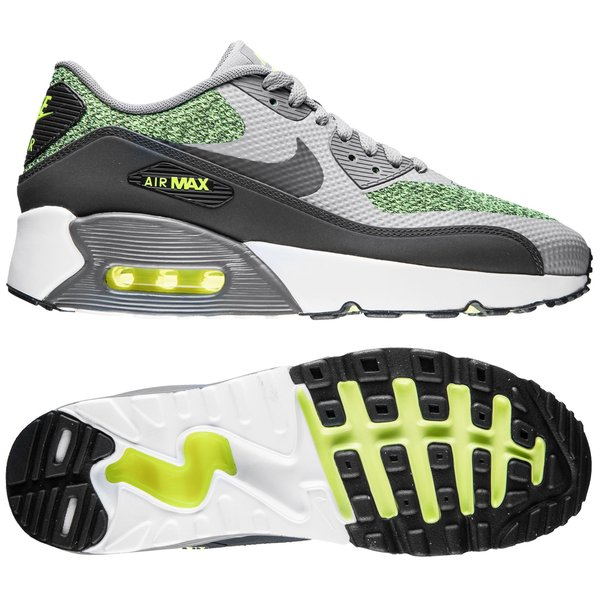Nike Air Max 90 Ultra 2.0 - Gris/Jaune Fluo/Blanc Enfant
