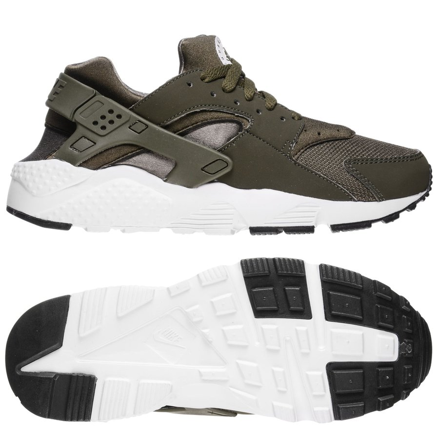promo code bcd51 1ea25 nike huarache run - grönvitsvart - sneakers ...