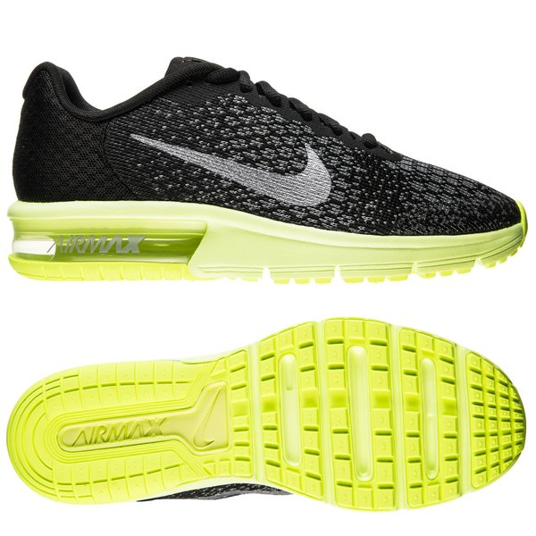 Nike Air Max Sequent 2 NoirJaune FluoGris Enfant