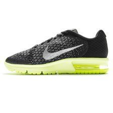 43d9ca5cd2a9 Nike Air Max Sequent 2 - Noir/Jaune Fluo/Gris Enfant. thumb {title}. thumb  {title}