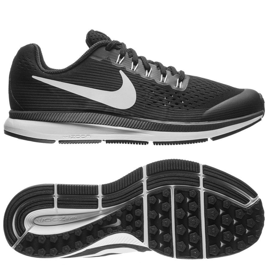04d3366cbe3db nike chaussures de running air zoom pegasus 34 - noir blanc gris enfant ...