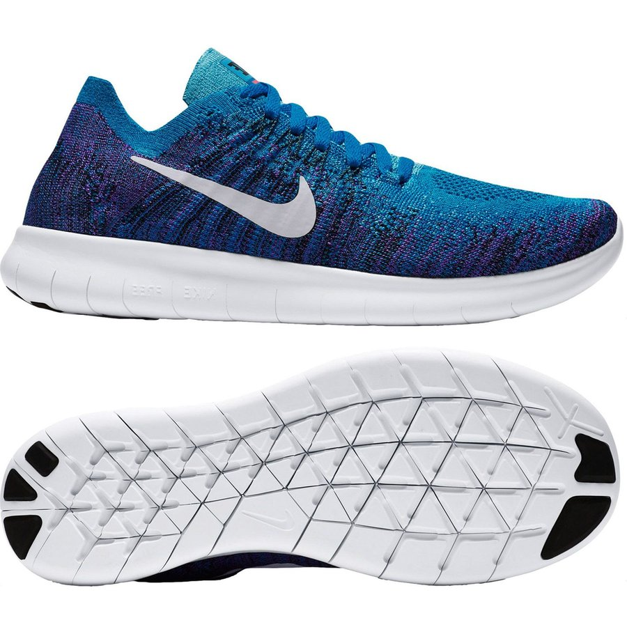 new style 71acc 268a5 nike free rn flyknit 2017 - blue orbitblackpure platinum kids - running  ...