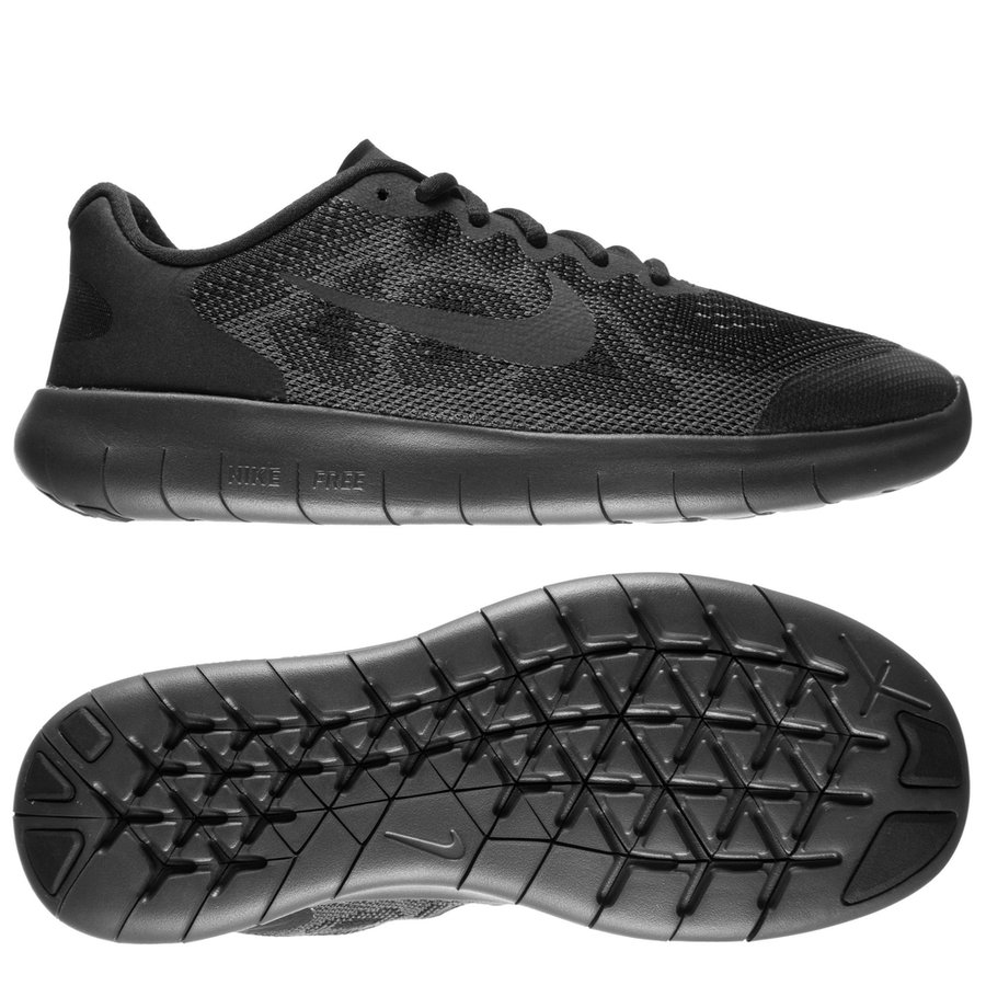 f20b2dc63516 nike free rn 2017 - black dark grey kids - running shoes ...