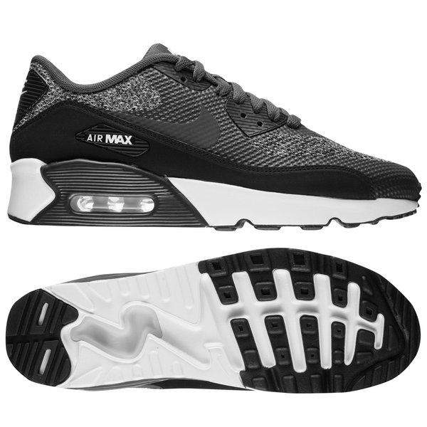 nike air max 90 grå hvit og svart
