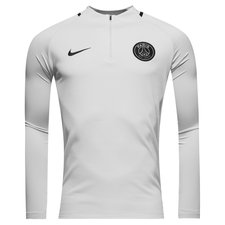 paris saint germain training shirt dry squad drill - pure platinum/black - training tops