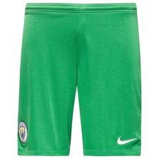 manchester city goalkeeper shorts 2017/18 kids pine green - football shorts