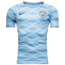 manchester city trænings t-shirt squad gx - blå/hvid - træningstrøjer