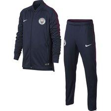 manchester city træningsdragt dry squad knit - navy/hvid børn - træningsdragt