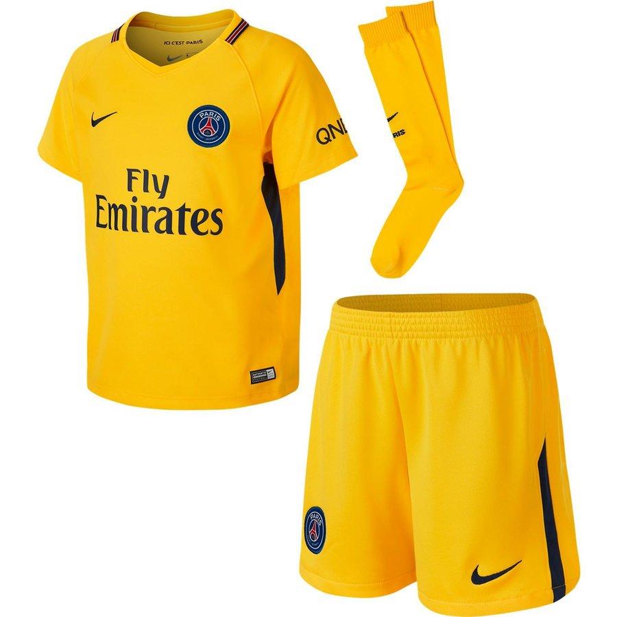 fbf55f61a paris saint germain away shirt 2017 18 mini-kit kids - football shirts ...