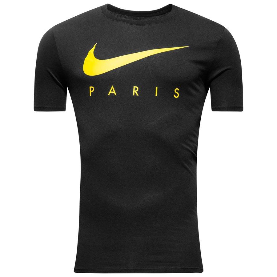 paris saint germain t shirt preseason noir jaune www. Black Bedroom Furniture Sets. Home Design Ideas