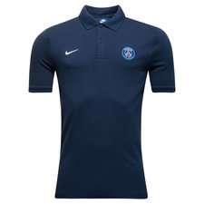 paris saint-germain polo nsw crest - navy/hvid - polotrøjer