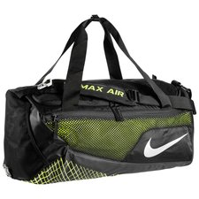 nike sports bag vapor max air duffel m - black/volt/metallic silver - bags