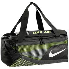 nike sports bag vapor max air duffel s - black/volt/metallic silver - bags
