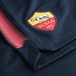 as roma træningsshorts dry squad - navy/rød - træningsshorts