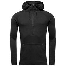 nike hættetrøje nsw tech fleece - sort - hættetrøjer