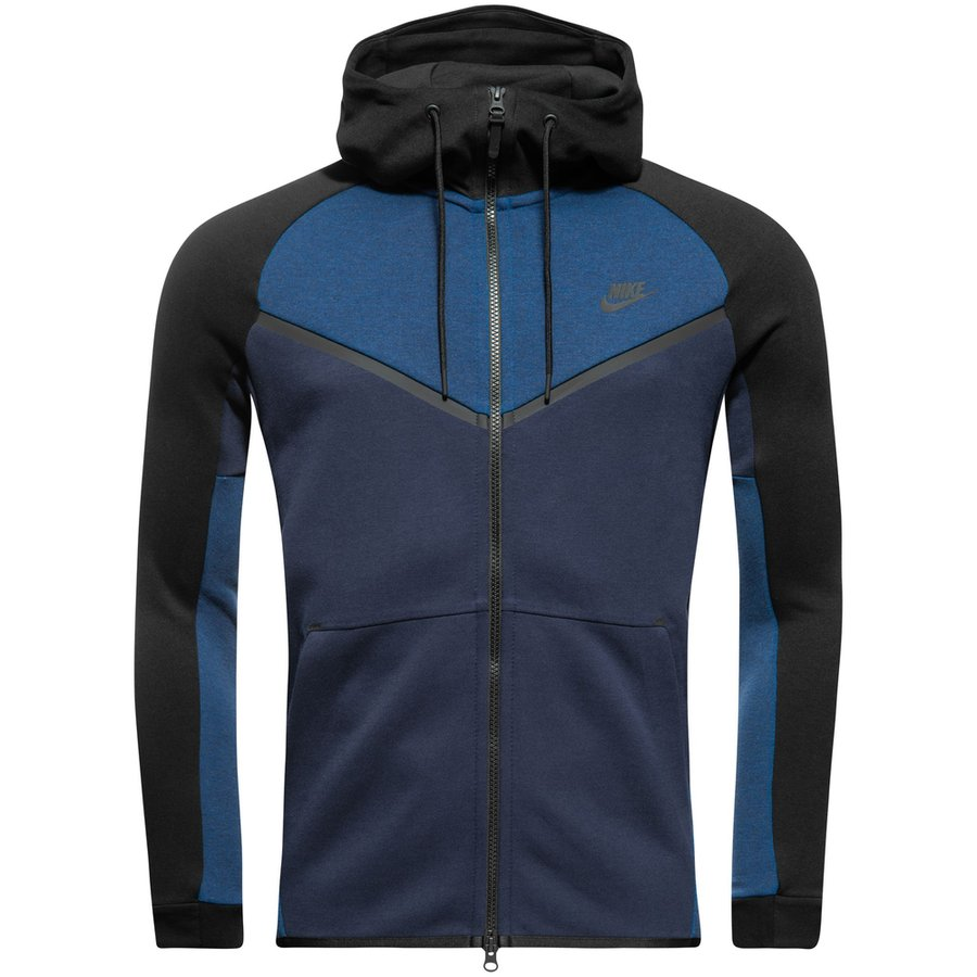 nike veste capuche fz nsw tech fleece windrunner bleu marine noir. Black Bedroom Furniture Sets. Home Design Ideas