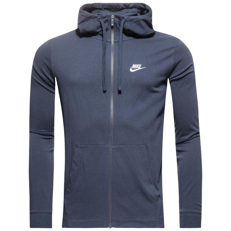 Veste À Fz Bleu Www Sportswear Nike Capuche Foncéblanc PEwf56q