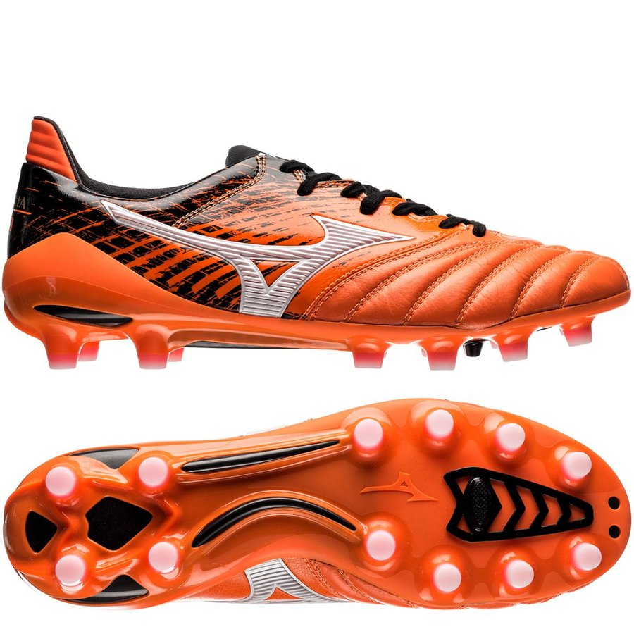 outlet store 81d17 292a4 sweden mizuno soccers shoes red orange ffa82 a5865