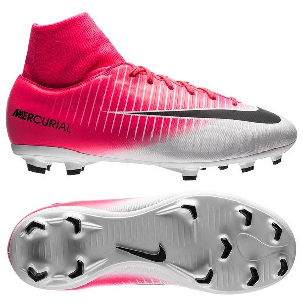 4433c5d7205 Nike Mercurial Victory VI DF FG Motion Blur - Racer Pink Black White Kids