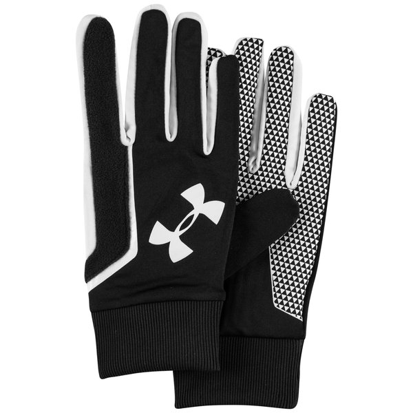 under armour gants de joueur coldgear noir blanc. Black Bedroom Furniture Sets. Home Design Ideas
