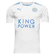 leicester city away shirt white 2017/18 - football shirts