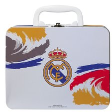 real madrid lunch bag tin - white/blue/yellow - merchandise