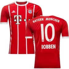 bayern münchen hjemmebanetrøje 2017/18 robben 10 - fodboldtrøjer