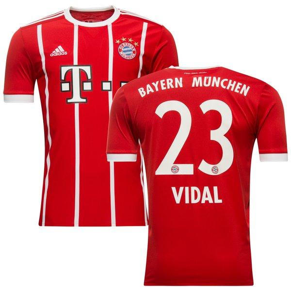 bayern münchen hjemmebanetrøje 2017/18 vidal 23 - fodboldtrøjer