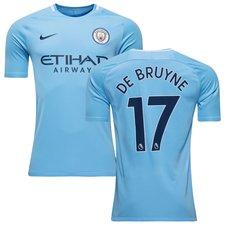 manchester city home shirt 2017/18 de bruyne 17 - football shirts