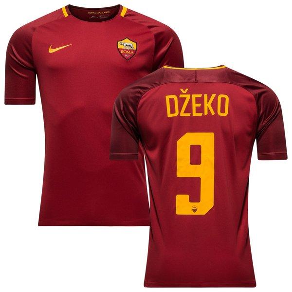 as roma hjemmebanetrøje 2017/18 džeko 9 - fodboldtrøjer