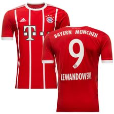 bayern münchen hjemmebanetrøje 2017/18 lewandowski 9 børn - fodboldtrøjer