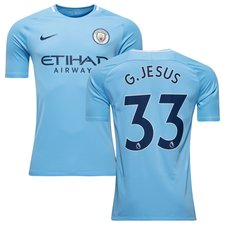 manchester city home shirt 2017/18 g.jesus 33 kids - football shirts