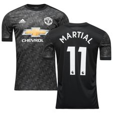 manchester united away shirt 2017/18 martial 11 kids - football shirts