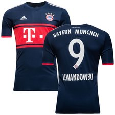 bayern münchen away shirt 2017/18 lewandowski 9 kids - football shirts